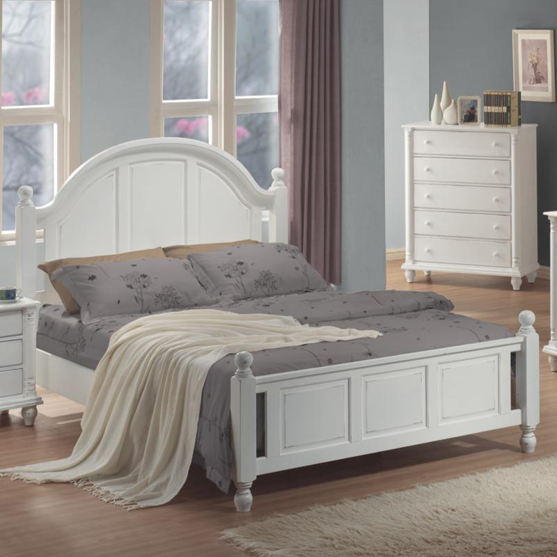 White Wood Eastern King Size Bed Steal A Sofa Furniture