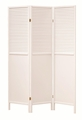White Wood Folding Screen