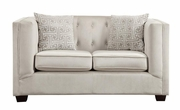 White Wood Loveseat