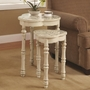 White Wood Nesting Table