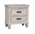 White Wood Nightstand