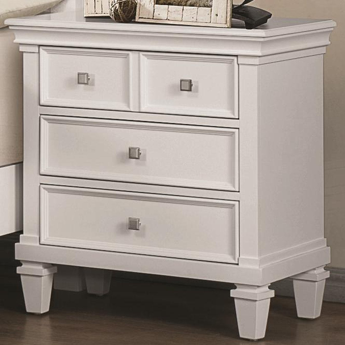 White wood nightstand steal a sofa furniture outlet los for White wood nightstand
