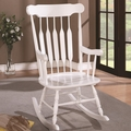 White Wood Rocking Chair
