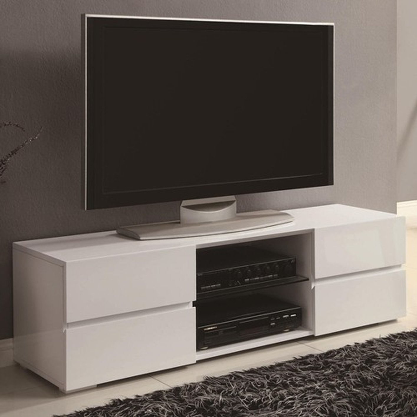 white wood tv stand White Wood TV Stand   Steal A Sofa Furniture Outlet Los Angeles CA white wood tv stand