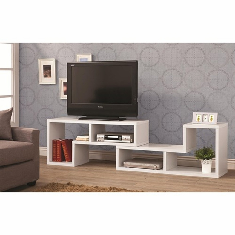 Well-known White Wood TV Stand - Steal-A-Sofa Furniture Outlet Los Angeles CA NY55