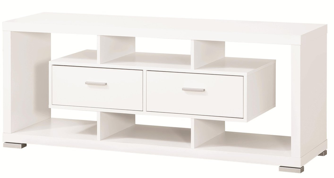 coaster 700113 white wood tv stand steal a sofa furniture outlet los angeles ca. Black Bedroom Furniture Sets. Home Design Ideas