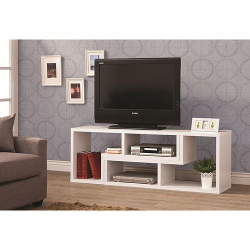 White Wood TV Stand Steal A Sofa Furniture Outlet Los