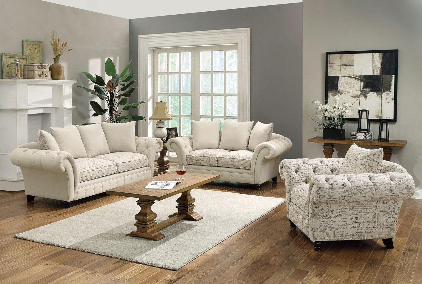 Willow Beige Fabric Sofa And Loveseat Set Steal A Sofa