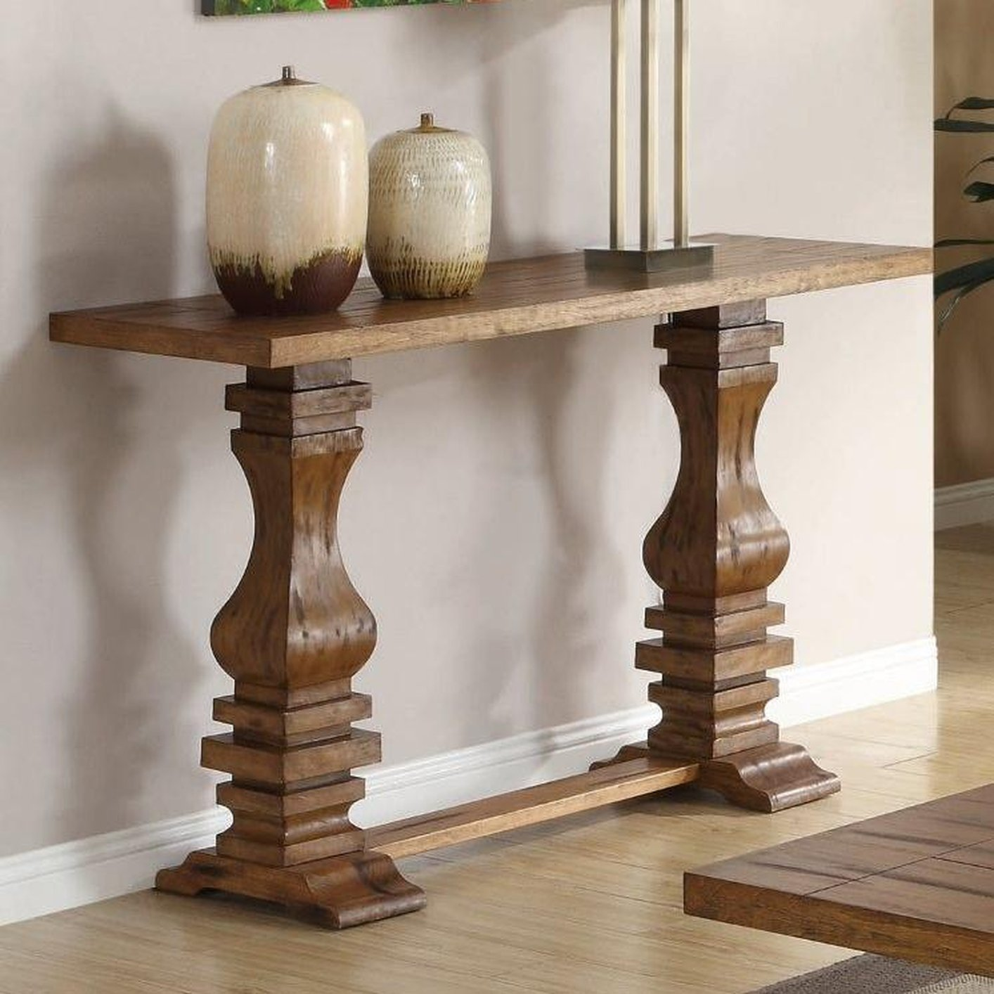 Willow Brown Wood Sofa Table
