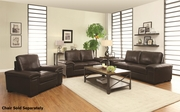 Winfred Brown Leather Sofa and Loveseat Set