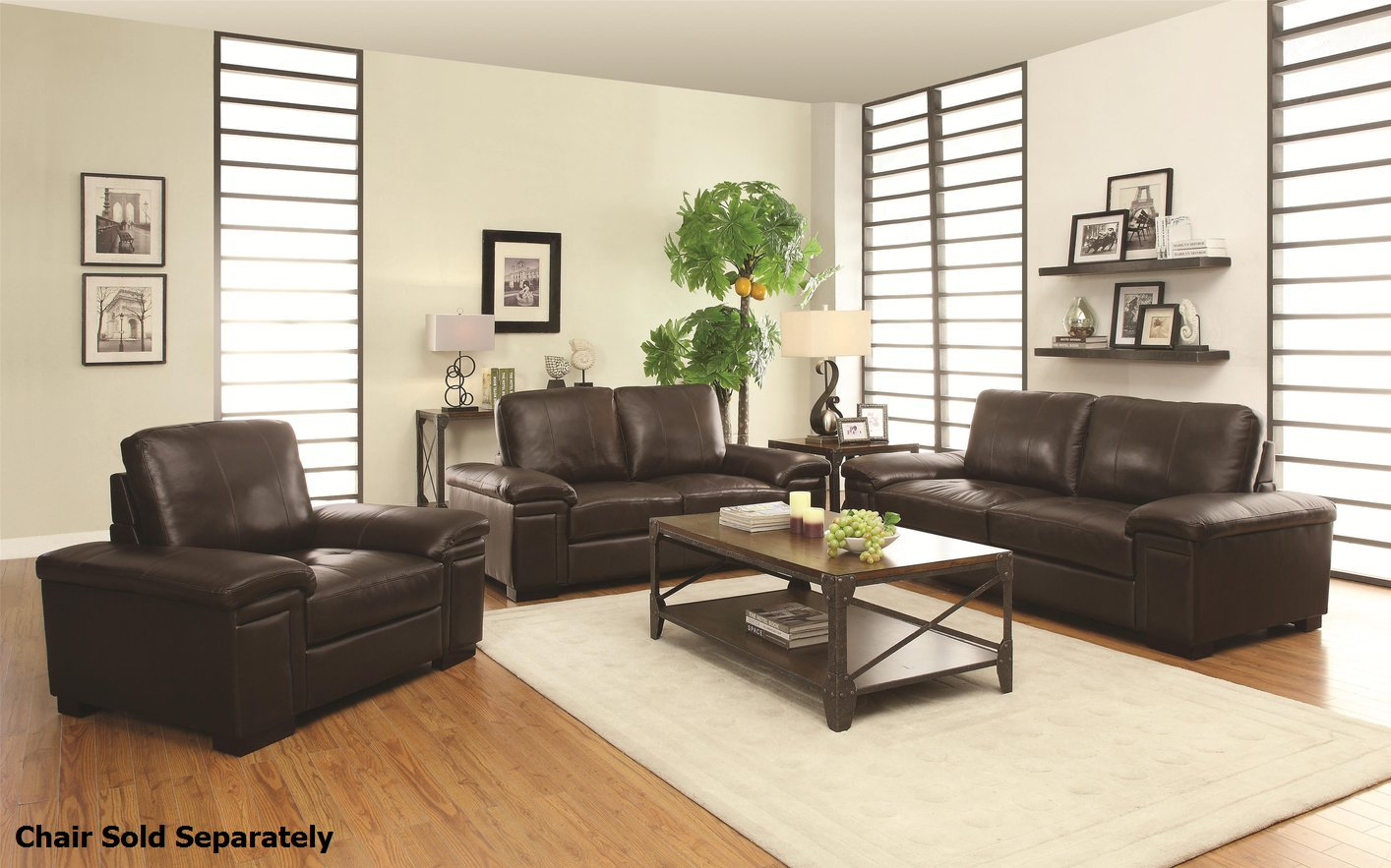 Winfred brown leather sofa and loveseat set steal a sofa furniture outlet los angeles ca