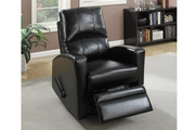 Wiv Black Leather Swivel Recliner
