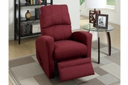 Wiv Red Fabric Swivel Recliner