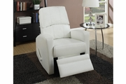 Wiv White Leather Swivel Recliner