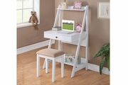 Beige Wood Writing Desk Set