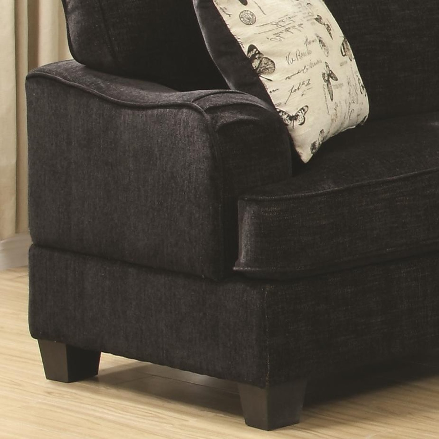 Yasmine Black Fabric Sofa Steal A Sofa Furniture Outlet Los