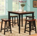 Black Wood Dining Table and Chair Set