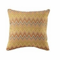 Yellow Fabric Accent Pillow