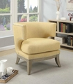 Yellow Metal Accent Chair