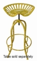 Yellow Metal Bar Stool