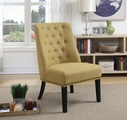 Yellow Wood Accent Chair