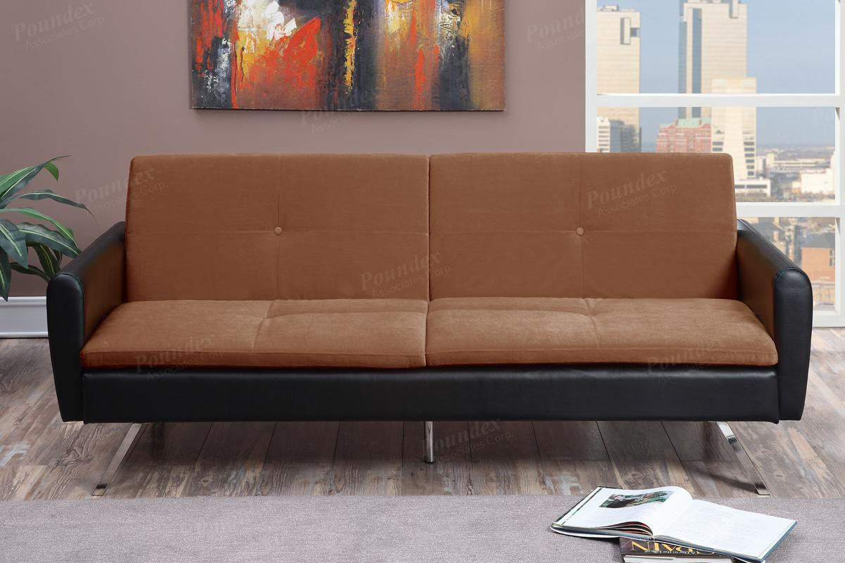 Brown Leather Sofa Bed - Steal-A-Sofa Furniture Outlet Los Angeles CA