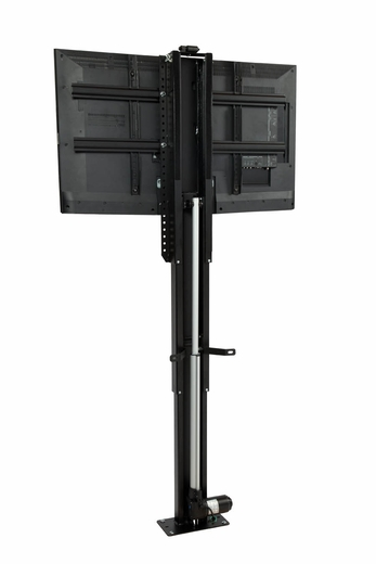 Whisper lift ii tv lift for flat screen tvs up to 65 for Motorized vertical tv lift