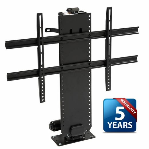 Whisper lift ii tv lift for flat screen tvs up to 65 for Motorized tv mount cabinet