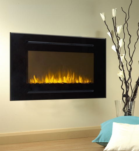 40 Inch Forte Wall Recessed Electric Fireplace In Black