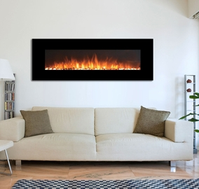 """The Onyx®XL Touchstone 72"""" Fireplace Wall Mounted Electric Fireplace with Heat in Black"""
