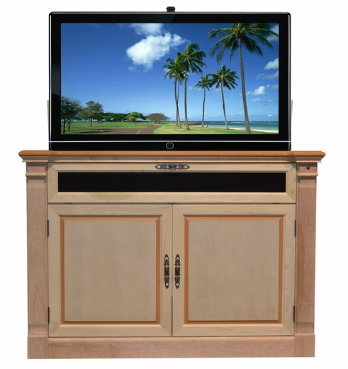 tv lift cabinets for flat screens adonzo unfinished tv lift cabinet for flat screen tvs up 27359