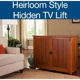 Arts & Crafts and Mission Style TV Lift Cabinets