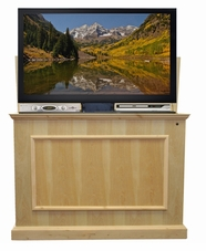 The Elevate™ Unfinished Touchstone's Value Priced Wood TV Lift Cabinet, 9 finishes available