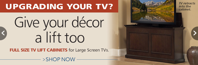 Full Size TV Lift Cabinet for 60-inch TVs and smaller