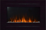 Refurbished Forte Touchstone's Recessed Electric Fireplace with Heat in Black