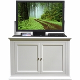 Seaford TV Lift Cabinet in White Finish Birch Wood