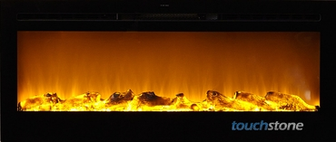 The Sideline®50 Touchstone's Recessed Electric Fireplace with Heat in Black