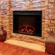 The Edgeline - Touchstone's 28 Inch LED Electric Firebox Fireplace Insert