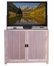 The Elevate™ Mission Unfinished TV Lift Cabinet, 9 available finishes