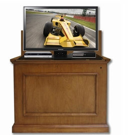 The Elevate™ in Honey Oak Touchstone's Value Priced Wood TV Cabinet