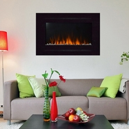 The Forte™ Touchstone's Recessed Electric Fireplace with Heat in Black