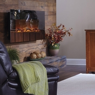The Mirror Onyx® Touchstone's Electric Fireplace with Heat with Mirror Glass