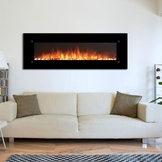 "The Onyx®XL Touchstone 72"" Fireplace Wall Mounted Electric Fireplace with Heat in Black"