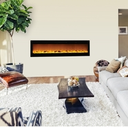 The Sideline®72 Touchstone's 72 inch Recessed Electric Fireplace with Heat in Black