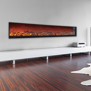 Touchstone Emblazon Series Wall-Length Linear Electric Fireplaces