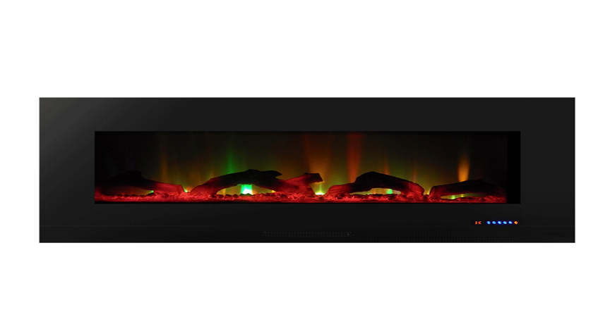 Valueline72 10 Color Recessed Wall Electric Fireplace 72 Inch Wide Logset Crystal 1200w