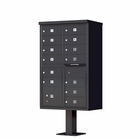 13 Door Cluster Mailbox with Pedestal - Black