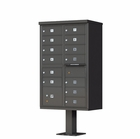 13 Door Cluster Mailbox with Pedestal - Bronze