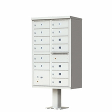 13 Door Cluster Mailbox (Includes Pedestal)  by Florence Manufacturing - Gray