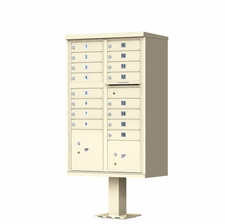 16 Door Cluster Mailbox (Includes Pedestal)  by Florence Manufacturing - Sandstone